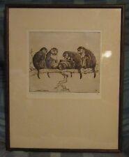 "Benson B Moore Original Etching ""Interested Spectators"" Ltd 3/50"