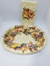 Thanksgiving Autumn Wreath Party Paper Supply Bundle for 8
