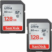 2 Pack SanDisk 128GB Ultra SDXC SD 80mb/s Flash Memory Card SDSDUNC-128G Retail