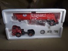 """First Gear-""""Mobil Oil"""" 1953 White 3000 Tractor & Trlr 1/34 #19-1931"""