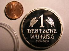 50 años 1 alemanes moneda mark BRD DDR 1950-2000 Jugendstil 35mm 21,45g gödepp