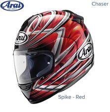 #ARAI CHASER MOTORCYCLE HELMET - SPIKE RED - MEDIUM - EXCEL CONDITION - £129.99