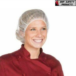 100pcs Disposable Bouffant Cap Hair Net Non Woven Head Cover Industrial/Medical