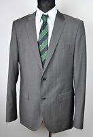 HUGO BOSS Pinstriped MOHAIR&WOOL Blazer UK 42L Suit 102 Jacket Coat Gr. 52L Top