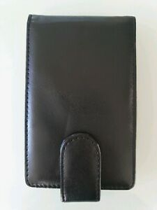 Matte Black Flip Case Pouch Holder with Mirror-Fits 4 LipSense Lipstick or Gloss