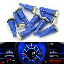 10x Lampade Lampadine Auto T5 DC12V LED 5050 SMD Luce BLU Alta Luminosità