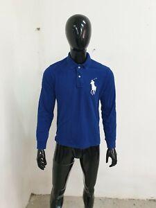 Polo RALPH LAUREN Uomo Taglia M Maglia Maglietta T- shirt Man Manica lunga Logo