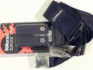 DiMarzio DD2210 Cliplock Nylon Quick Release Guitar Strap in Black (Metal Ends)