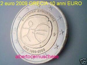 2 euro 2009 GRECIA 10 anni EURO Grece Greece Griechenland EMU UEM COM TYE Греция