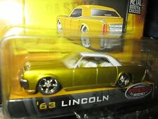 63 lincoln dub city old skool  gold white roof mags jada 1/64  8+ wave 1  ,2005