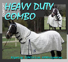 """COMFORT HEAVY DUTY 5'9"""" POLYCOTTON RIPSTOP HORSE COMBO RUG"""