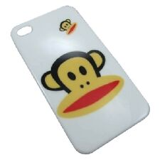 cover custodia rigida Iphone 4 4S  nuova versione logo scimmia bianco