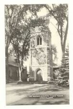 CANAAN CT Warner Memorial Clock Tower Vtg B&W Postcard