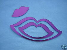 MIROIR STICKER déco COULEUR bouche KISS 3 en 1 violet
