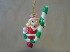 """The Muppets Miss Piggy 3"""" Polystone Christmas Ornament By Giftco Inc., BRAND NEW"""
