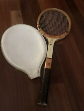 Vintage Wilson Jack Kramer Autograph Model Wood Tennis Racquet with cover