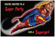 20 SUPERGIRL Super Girl Birthday Party INVITATIONS Post Cards POSTCARDS