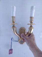 LAMPADA COMODINO A PARETE LUMETTO APPLIQUE A MURO ORO ABAT JOUR LUME VETRO E18