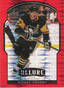 20-21 2020-21 UD Allure Sidney Crosby RED RAINBOW #70-Penguins