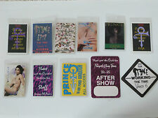 PRINCE - Collection of 11 Repro Laminated & Genuine Cloth Backstage Tour Passes
