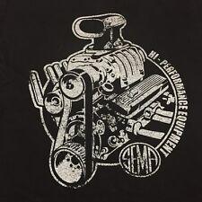 Hi-performance Equipment SEMA Small Black T-shirt Engine Automobile Vehicles Car