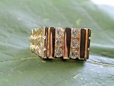 Vintage14k gold  ring with 6 OUTSTANDING .19ct. diamonds