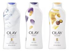 3x Olay Daily Exfoliating w/Sea Salts Age Defying Ultra Moisture Body Wash 22 oz