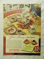 1949 Magazine Ad Page A&P Coffee Breakfast Ten-B-Low Concentrated Ice Cream Sign