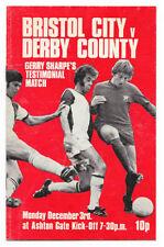 Derby County Football Testimonial Fixture Programmes (1970s)