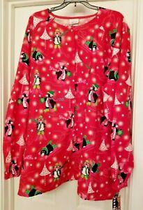 NWT White Swan Christmas Fundamental Women's Scrub Top Size 4XL Pequins Playing