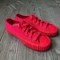 PF Flyers Red Low Top Shoes Men's Size 4.5 Women's 6