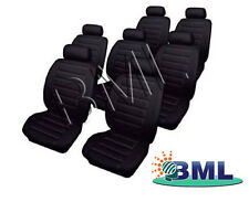 SEAT ALHAMBRA 2000-2010 LEATHERLOOK CAR BLACK SEAT COVERS SET.PART- 66583FD