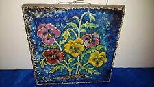Karlsruher Majolika Keramik Wandplatte Wandbild 7522 Wandkachel 22*22 cm