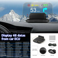 Dash Mount GPS Head-Up Display Car HUD Speedometer Projector w/Reflection Screen