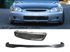 For 99-00 Honda Civic Type-R Front lip+Front Grill FAST SHIP FREE! USA