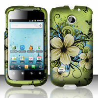 For Huawei Ascend II 2 M865 Rubberized HARD Case Phone Cover Hawaiian Flowers