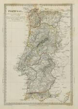 Portugal Algarve Alentejo Extremadura Beira na capa da os Montes Sduk 1844 Mapa Antiguo