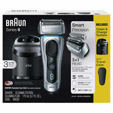 Braun Series 8 Wet/Dry Electric Shaver with Clean Charge Station & Travel Case