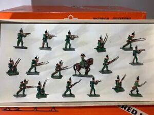 SAE 30mm BRITISH NAPOLEONIC RIFLE BRIGADE #1226 MINT Pristine Lead Toy Soldier