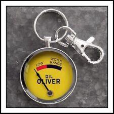 Oliver Tractor Vintage Oil Work Range Gauge Photo Keychain Tractor Key Chain