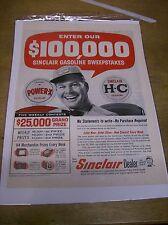Original 1960 Sinclair Magazine Ad - Sweepstakes