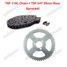 T8F 116L Chain 54T 29mm Rear Sprocket For 47 49cc Minimoto Pocket Bike Quad ATV