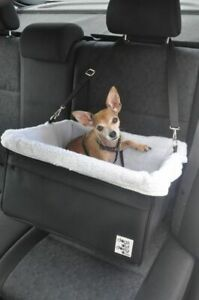 Large Black Dog Car Booster Seat (White Lining) - Dogs Out Doing