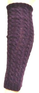 """Gauntlets With Angora-Wolle """" Plum """" Braid Pattern, One Size"""