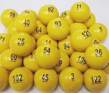 "Raffle Balls, Numbered Balls, 1- 300 pcs 7/8"" Diameter - Made In Usa"