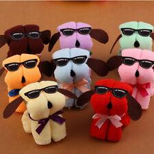 Lovely Dog Cake Shaped + Sun Glasses Towel Cotton Washcloth Random Color Gifts