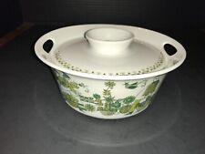 Turi Design F F Norway Market Olive Greens Covered Casserold w Lid Dish Bowl
