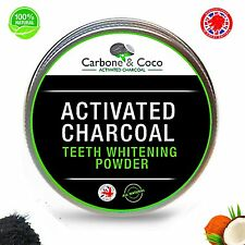 Carbone & Coco™ Pure Activated Charcoal Tooth Teeth Whitening Powder Natural