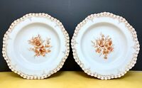 Two KPM Royal Berlin Hand Painted Porcelain Plates c1900 florals