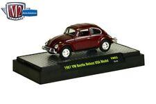 M2 Machines Auto Thentics 1967 VW Beetle Deluxe 1:64 size USA Model VW03 Maroon